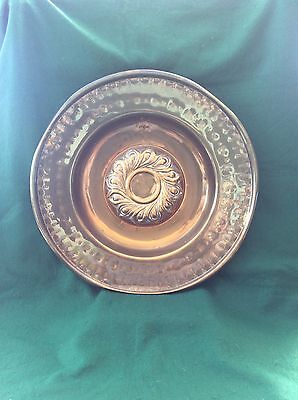 19th Century brass alms dish/ charger (20 inches)
