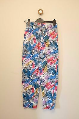 Vintage crazy print American festival gym workout trousers