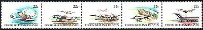 (Ref-10701) Cocos (Keeling) Islands 1981 Aircraft  SG.65/69 Mint (MNH)