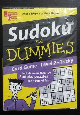 Sudoku for Dummies card game Level 2 - Tricky more than 100 puzzles Brand new