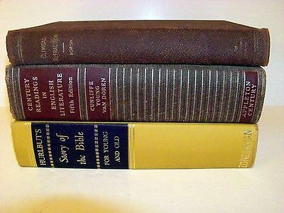 Lot of 3 Vintage Books For Instant Library, Decor, Display, Crafts