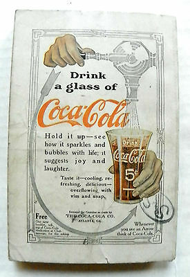 "1907 Street & Smith Mini Book With ""drink A Glass Of Coca-Cola"" Advertisement"