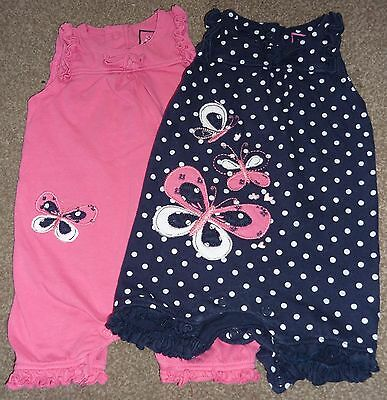 2 Girls Butterfly Rompers 3-6 months