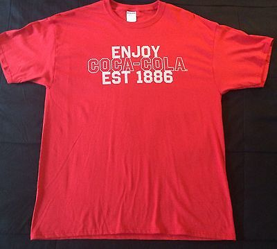 Coca Cola Men's Short Sleeve Red Graphic T-shirt Size XL