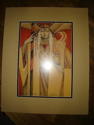 Elric of Melnibone Print by Robert Gould #88/600 RARE Signed Matted & Sealed