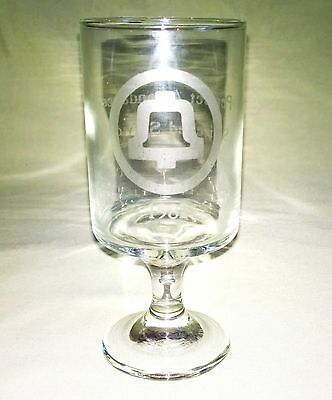 Bell Systems AT&T 'Perfect Attendance Switched Services' Award Glass 1982