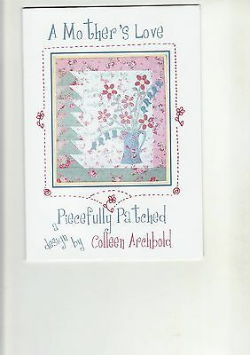 """PATCHWORK & QUILTING PATTERN  -  """"A Mother's Love""""  (Wall Hanging)"""