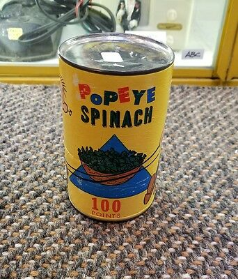 "POPEYE CAN OF SPINACH 1960's KING FEATURE TOYS 5"" GOOD STRONG COLORS #1"