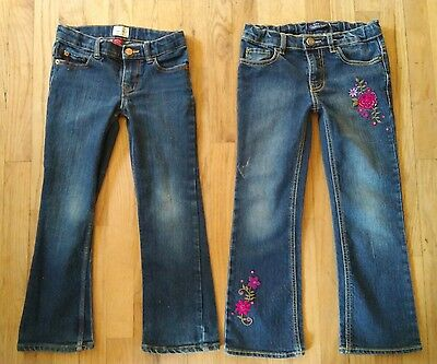 Lot 2 JUSTICE Girls Jeans SIZE 6X/7 Adjustable Waist