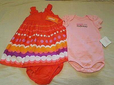 NEW - Gymboree Girls Size 12-18 Months Lot - Dress and One piece outfit