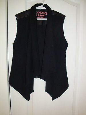 BLANK NYC Girl's Faux Leather & Knit Vest Size  M (8)