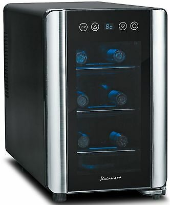 Kalamera KR-06AE Silent 6 Bottle Wine fridge Touchscreen Wine Cooler Black