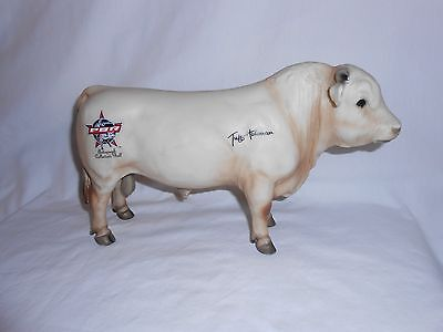 Breyer PBR Pro Bull Riders Collectors Tuff Hedeman Signed Autographed Charolais
