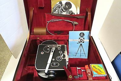 Vintage 1950s Paillard Bolex 16mm H16M Movie Camera with Lens~Case~Accessories