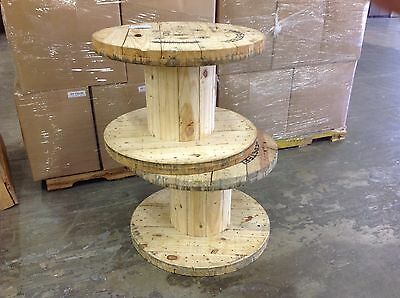 """XLARGE Wooden Spool Cable Wire Reels, Great for tables, H21.5"""" X 31 5/8""""D"""