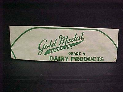 Vintage Gold Medal Dairy Co. 1940S 1950's Paper Soda Fountain Jerk Hat Ice Cream