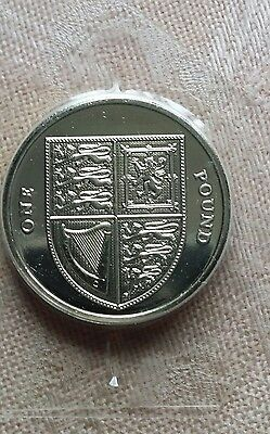 2016 Royal Shield of Arms One Pound £1 Coin, BUNC