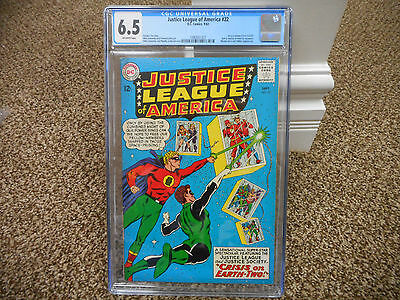 Justice League of America 22 cgc 6.5 Society JSA crossover DC 1963 ow pgs JLA 21