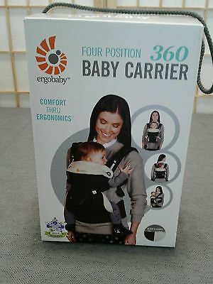 Ergobaby 360 4 Position Baby Carrier - Black shell & Camel lining