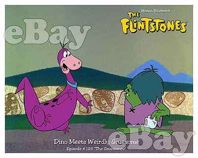 Rare FLINTSTONES Cartoon Color Photo HANNA BARBERA Studios DINO & GRUESOMES