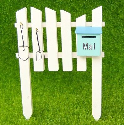 Fairy Garden Miniature Fence With Mailbox