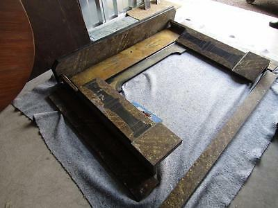 Victorian Slate Fireplace Surround Grain Painted - NO RESERVE