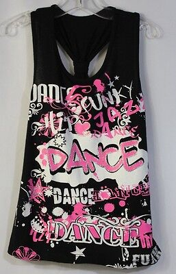 GIRLS M DUCK CROSSING Razorback Tank Top T-Shirt Shirt DANCE DANCEWEAR