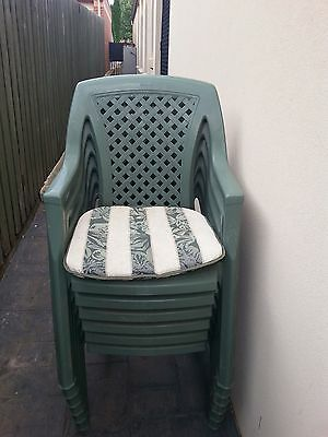 Outdoor chairs X 6 with cushions