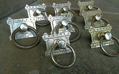 Eastlake Drawer Pulls for Victorian 2 over 3 drawer Dresser Nickel Plated Knobs