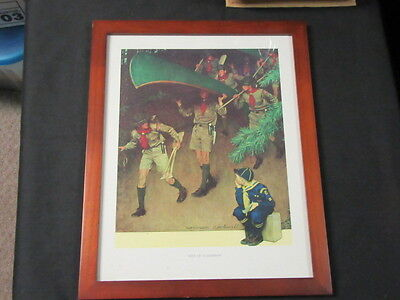 Men of Tomorrow Norman Rockwell Boy Scout Print, Framed