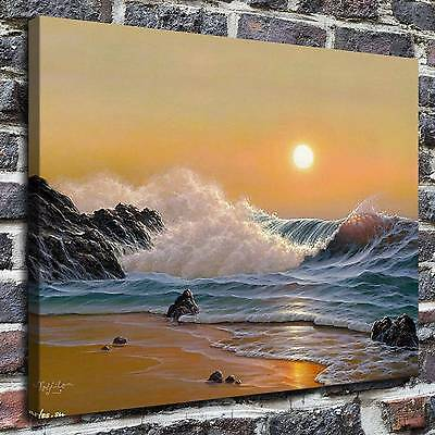 "12""x16""Noelito, ocean waves Paintings HD Print on Canvas Home Decor Wall Art"