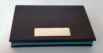 Business Card Holder, PU Leather, Stainless Steel, Credit card ID holder