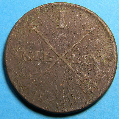 Sweden 1821 Skilling Coin Km# 597- Lot # B-072
