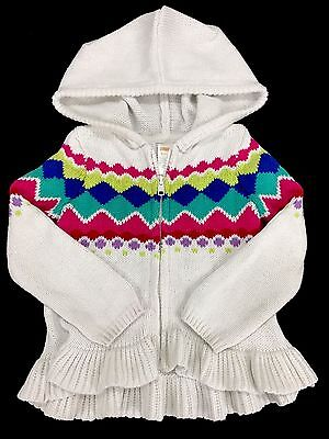 Infant Baby Girl Size 18-24 Months Gymboree Long Sleeve Zip Up Hooded Sweater