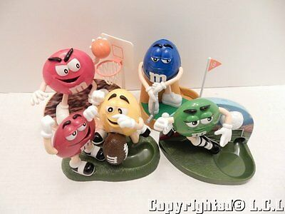 Vintage Lot of 4 M & M's Figures Sports Candy Dispensers Golf Basketball
