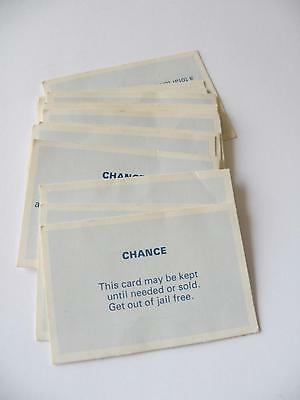 Vintage Monopoly Game - Set of 16 x Chance Cards Replacement/Spare Part ONLY