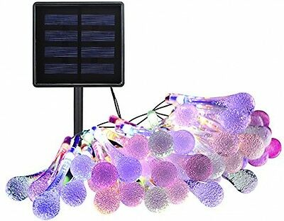 100Led Outdoor Waterproof Fairy Lights Icicle Solar String Lights Garden Decor