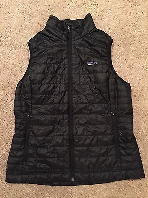 Patagonia Women's Down Sweater Vest (Black Size LARGE Full-zip Puffer Vest)