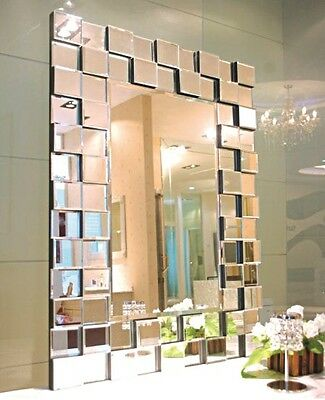 BRAND NEW Art Deco Ablaze Large Wall Mirror Rectangle