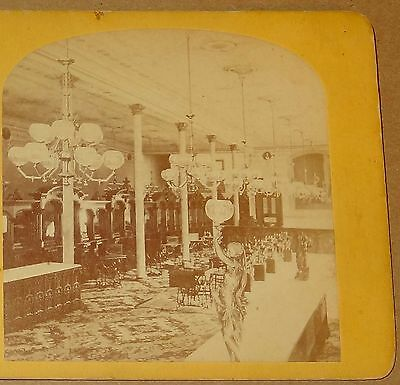 Stereoview Wilson Sewing Machine Sales Room Cleveland Ohio Advertising 1870's