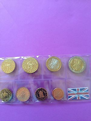 Angleterre ( Scotland ) 2003 Pattern Prototype 8 Euro Coin Collection