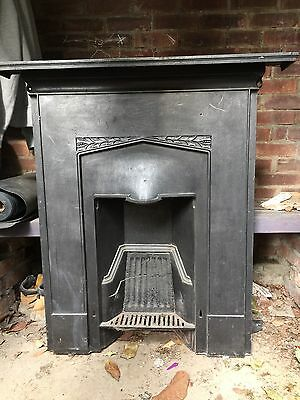 Reclaimed Antique Cast Iron Combination Fireplace - fire insert - Coal Fire