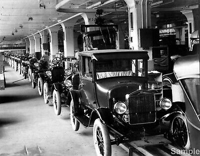 FORD Model T Assembly Line Vintage 1926 Rare Photo Print Picture