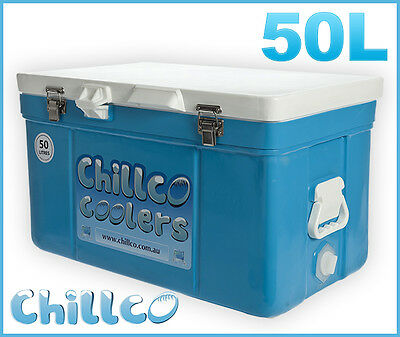 50L Chillco Ice Box Cooler Chilly Bin Superior Ice Retention-Rrp $320