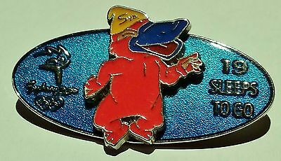SYDNEY Olympic Games 2000 Collectible PIN Badge 19 Sleeps to Go Original Metal
