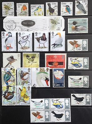 Bird Stamps of Great Britain & Ireland. Mint & Used