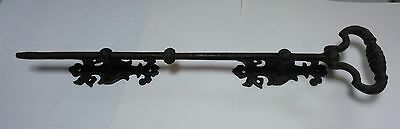 antique black cast iron bell pull
