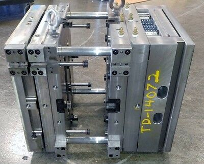 """Used Plastic Injection Mold Base 15"""" Long X 13-1/4"""" Wide X 13-1/2"""" High Td-14072"""