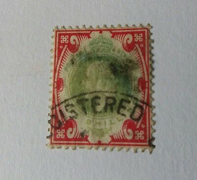 SG 314 great Britain Edward VII stamp registered post