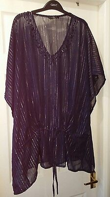 Lovely Beach cover up by BM in navy & metallic size S/M